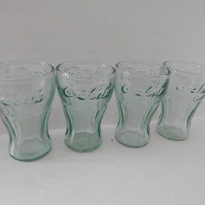 """Mini Coca Cola Collectible Glasses Set of 4 3"""""""